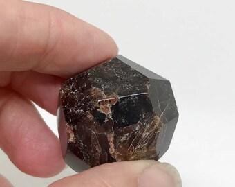 Faceted Almandine Garnet  - A Stone for Gentle Grounding