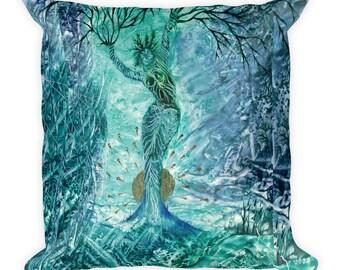 "Exclusive Original Design by Aditi-Kali ""Veleda""-Square Pillow"