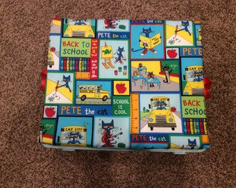Storage/Seat crate for children's bedroom and playroom, Also great for classrooms alternative seating. Price shown is for cushion only.