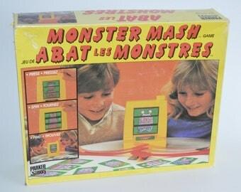 Vintage Monster Mash, Parker Brothers Board Game 1987 Monster Thwacking Game