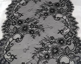 Cathedral Length Eyelash Lace Edge Mantilla Wedding Veil | Lace Bridal Veil | Lace Wedding Veil | Cathedral Lace Veil | Vintage Veil
