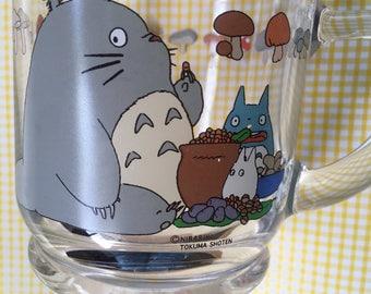 Kawaii Totoro glass mug from studio Ghibli in Japan