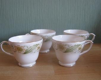 "4 Duchess ""Greensleeves"" Tea Cups"