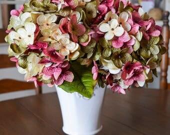 Floral Arrangement Hydrangea Stems | Blended Hydrangea Stem | Silk Hydrangea | Flower Stems | Artificial Hydrangea | Floral Stems