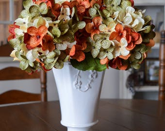 Floral Hydrangea Stems | Hand Blended Hydrangea Stem | Hydrangea | Artificial Hydrangea | Hydrangea Stems for Vase | Centerpiece | Flowers