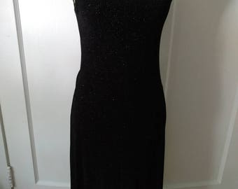 Vintage Sparkly Black Party Dress