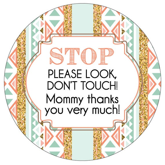 Girl Preemie sign, newborn, baby car seat tag, baby shower gift, stroller tag, Preemie no touching baby car seat sign