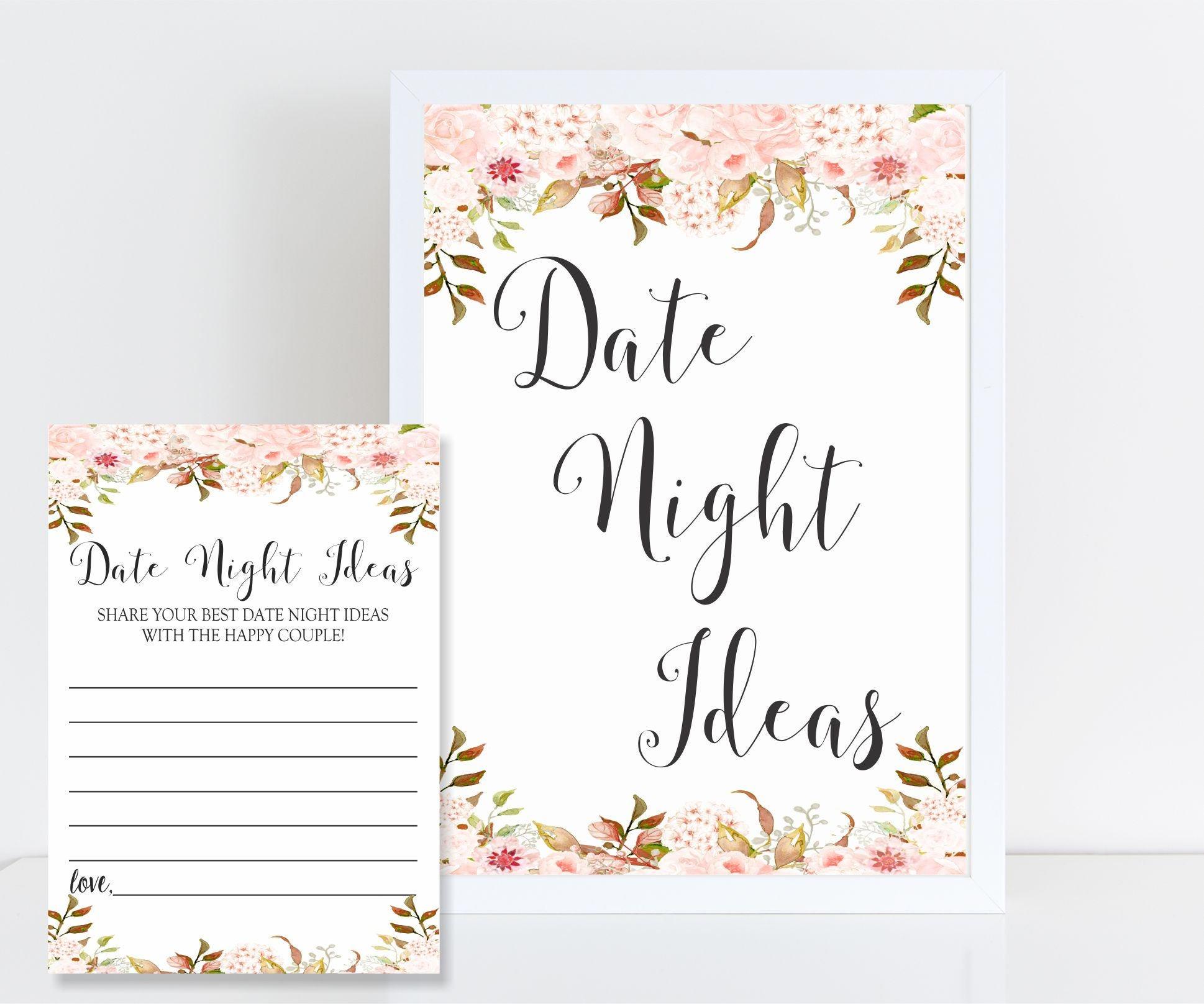 Wedding Night Advice: Botanic Date Night Cards Wedding Advice Date Night Sign Plus