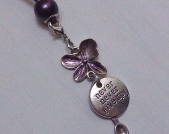 Fibromyalgia Lupus - Butterfly Flower Never Give Up Spoon pendant-elegant Spoonie jewelry-Spoonies
