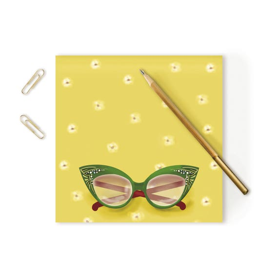 Retro Glasses Notepad