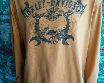 Harley Davidson Deadwood, SD men's long sleeve tshirt orange size XL