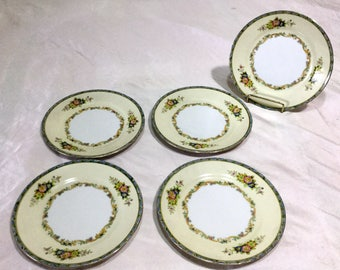 Antique Meito  China Japan 5 Bread Plates