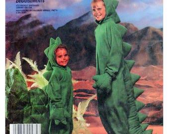 DINOSAUR, Children Costume, Halloween Costume, Sewing Pattern, McCalls 2749, McCalls 941, T-Rex, Brontosaurus, Dress-up, play, Size 2-4