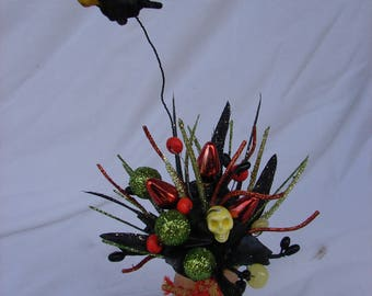 Miniature Handmade Halloween Floral Arrangement Gift Home Decor