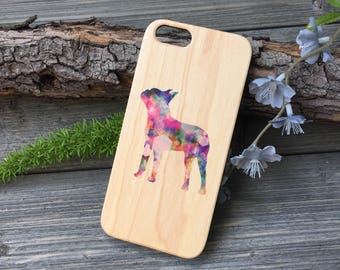 Boston Terrier iPhone Case, Your choice of Soft Plastic (TPU) or Wood