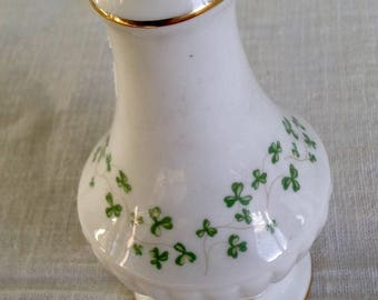"Vintage 5"" Royal Tara Trellis Shamrock Salt/Pepper Shaker"