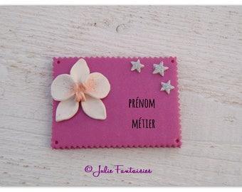Customizable badge polymer nurse, pediatrician, student midwife