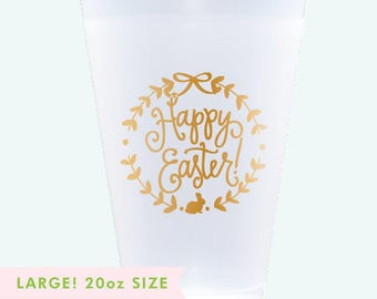 Reusable Easter Cups - LARGE 20 oz. (Qty 8)