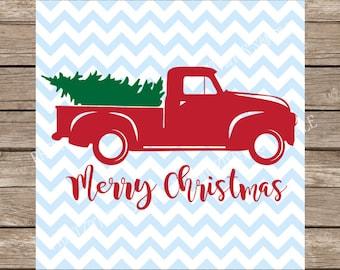 Christmas svg, Truck svg, Christmas Truck svg, Christmas Tree svg, Merry Christmas svg, Vintage svg, Vintage Christmas, svg files for cricut