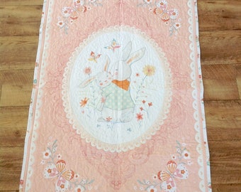 Baby Girl Quilt, Cot Quilt, Crib Quilt, Pink Quilt, Baby Quilt