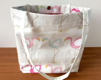 Wipeable Lined PVC Tote Bag with Magnetic Snap Closure