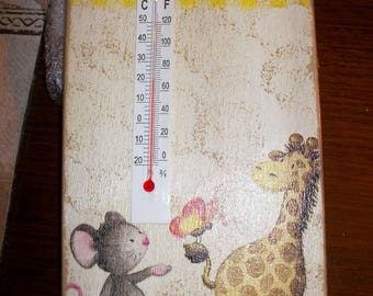 Thermometer for baby's room.   height 19 cm