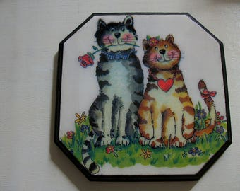 "Trivet for decoration ""Cats"""
