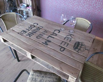 "Range table ""Kepp Calm and drink Coffee"" range furniture *."