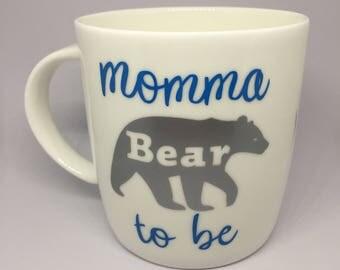 Momma Bear to be Mug / New Mum / Personalised Mum Mug / Gift for Mum / Mothers day Mug /Baby shower gift