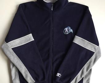 Vintage toronto argonauts cfl football full zip polyester fleece long sleeve sweater size xl Argos sweatshirt sweater