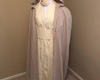 Luke's Skywalker The Force Awakens Costume Robe, Tunic, Tabard, Obi, Pants and Undershirt Cosplay