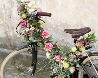 Flower garland XXL for a bicycle
