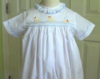 Hand embroidered baby bubble/dress
