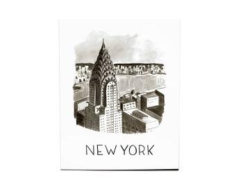8x10 New York Watercolor Print