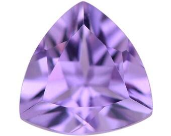 Pink Amethyst Trillion Cut Loose Gemstone 1A Quality 9mm TGW 1.75 cts.