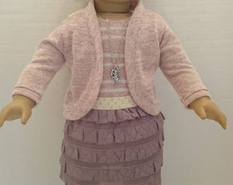 4 Piece Sweater Set and Skirt Outfit to an 18 Inch Doll such as the American Girl
