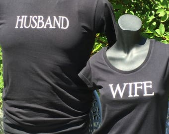 Husband & Wife tee set.  Let everyone know your married.
