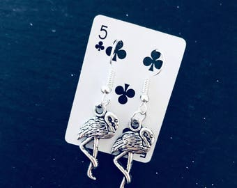 Alice in Wonderland Pretty Flamingo Earrings