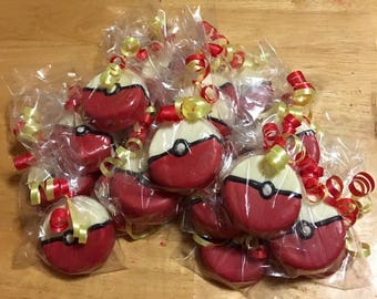 Pokeball Chocolate Covered Oreos