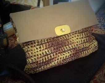 Large clutch purse crotchet  summer purse Boho style clutch