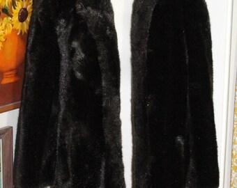 Vintage Sears Faux Fur Chocolate Brown Jacket Coat