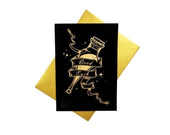 Good Luck! - A6 Felix Felicis potion, Harry Potter inspired greeting card