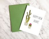 Happy New Home / Housewarming Card / New House Card / Cactus New Home Card