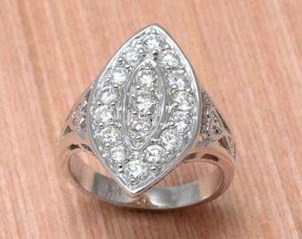 back to school sale Marquis Diamond Ring