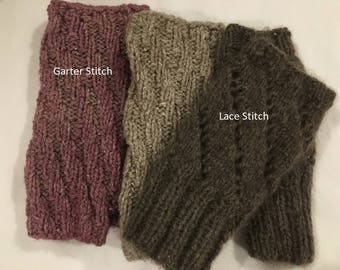 Fingerless Gloves, Made from Qiviut, the wool of the Musk Ox, Hand Knit, Hand Dyed
