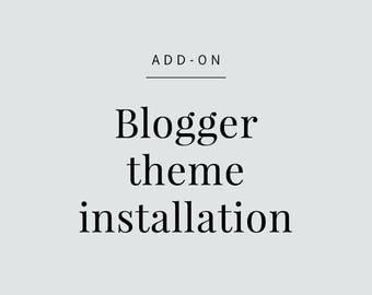 Blogger theme Installation