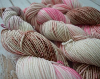 Strawberry Shortcake Hand Dyed Worsted Weight Yarn