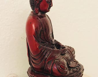 Vintage Buddha Statue, Buddhist Sculpture, Meditation, Serenity Buddha