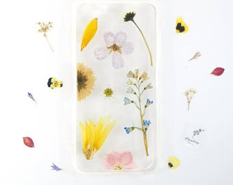 iPhone 6 PLUS case with real pressed flowers