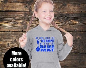 Cheer Rule The Blue Mat Hoodie